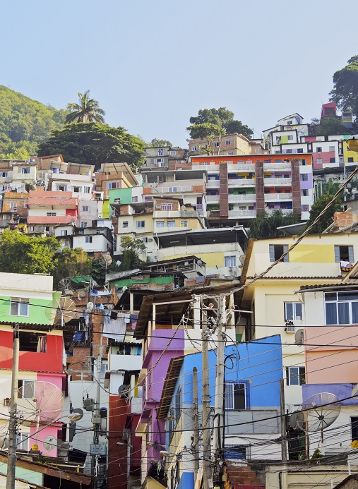 Rio city housing, Brazil