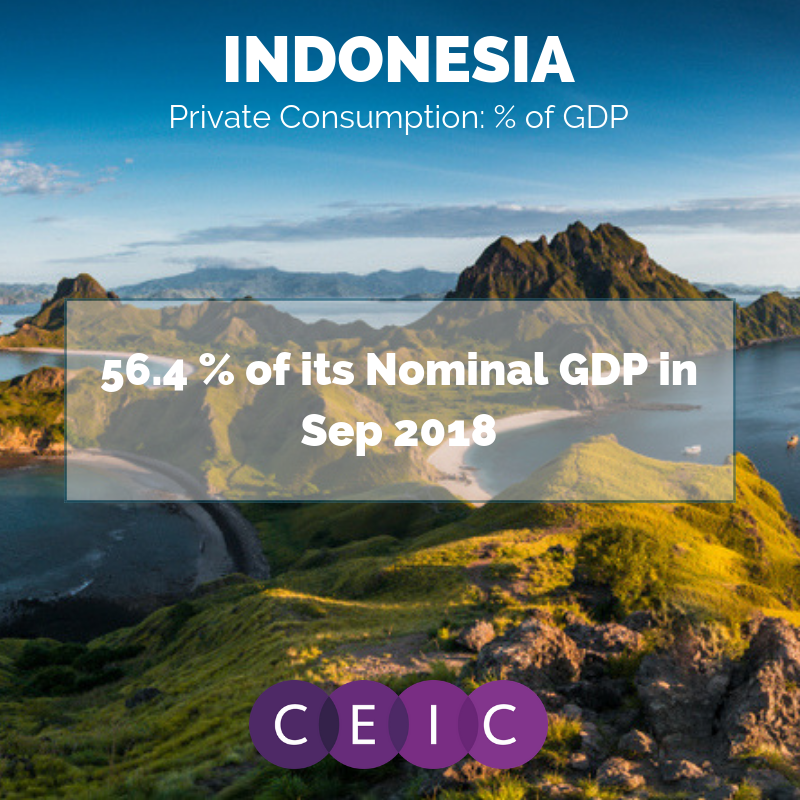 CEIC Data -Indonesia Private Consumption: % of GDP